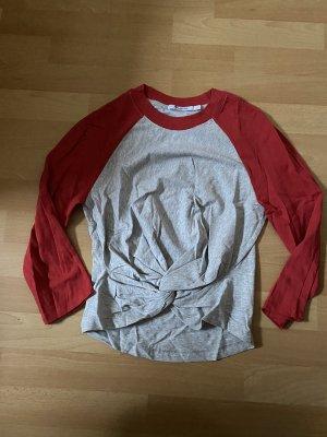 Alexander Wang T-shirt gris clair-rouge