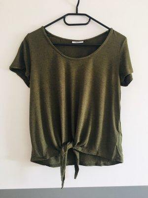 Only T-shirt czarny-khaki