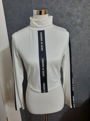 Turtleneck Shirt white-black