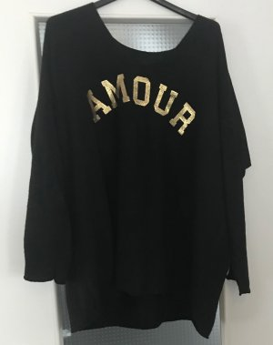 Long Sweater black-gold-colored