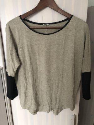 Shirt mit Lederärmel
