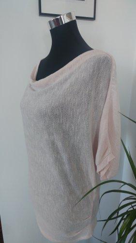 Shirt mit leichtem Wasserfall Ausschnitt