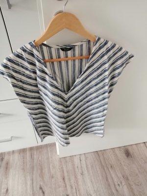 C&A Yessica T-shirt col en V blanc cassé-bleuet
