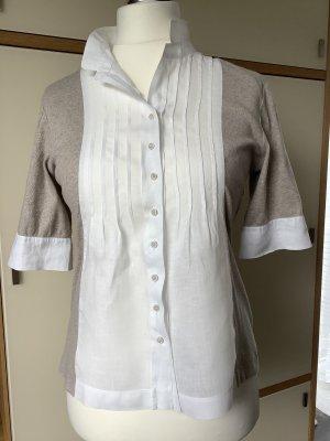 Shirt mit Leineneinsatz