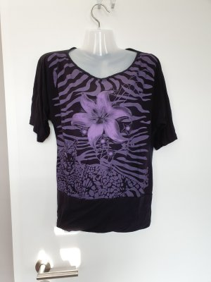 Shirt mit Lila Print