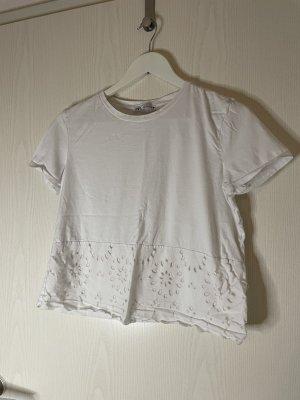 Shirt mit Lochstickerei