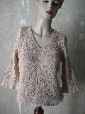 Shirt, mit Merinowolle, 3/4 Armlänge, beige - casual Look