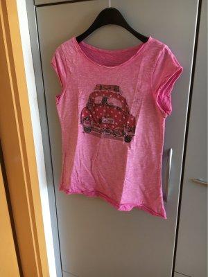 Shirt mit Motiv pink Gr. 40