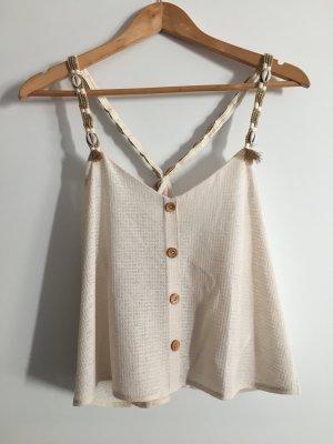 Pull & Bear Haut en crochet beige clair