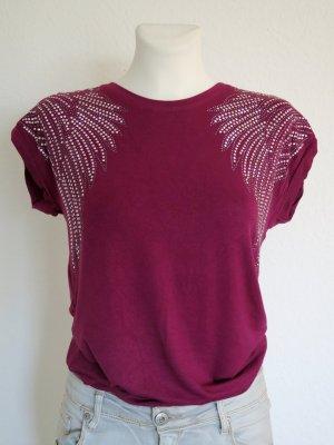 Melrose Boatneck Shirt violet cotton