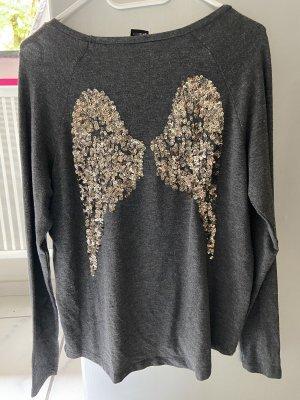 Shirt mit Pailletten Flügeln