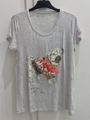 Shirt mit Pailletten-Mops