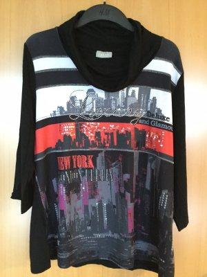 C&A Camisa con cuello caído multicolor Viscosa