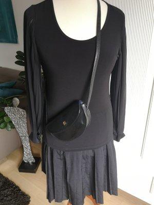 Shirt mit Plisseearmen Gr. 40 schwarz