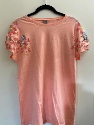 Shirt mit Print, apricot