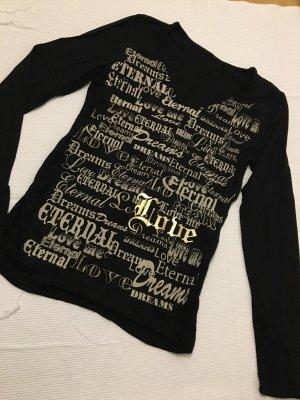 Shirt mit Print und Glitzerprint