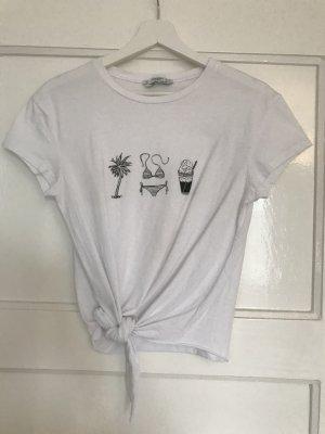 Shirt mit Print und Knoten