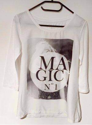 Shirt mit Printmotiv, 3/4 ärmlig, U-Schnitt, Gr. S
