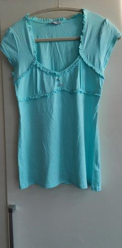 Orsay One Shoulder Shirt turquoise-light blue