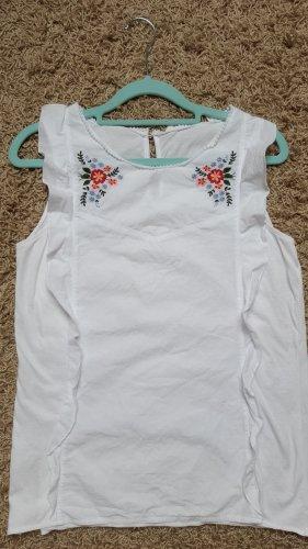 Shirt mit Rüschen/Blumen