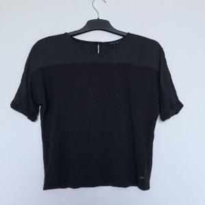 Shirt mit Satin
