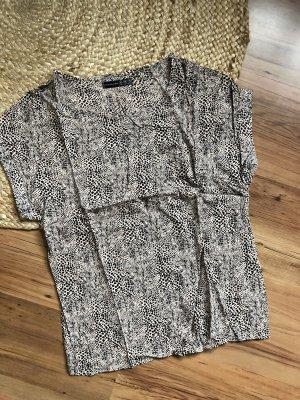 Atmosphere T-shirt imprimé noir-beige