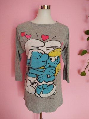 Shirt mit Schlumpfprint (K3)
