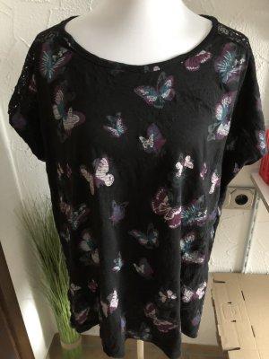 Shirt mit Schmetterlingen von Gina Benotti - fällt größer aus, eher 46/48