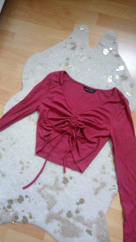 SheIn Cropped shirt lichtrood-magenta