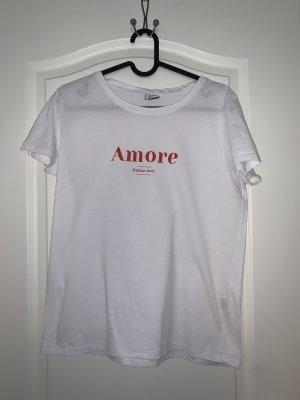 Pimkie Print Shirt white-red