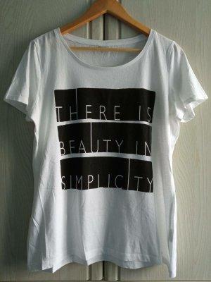 s.Oliver Print Shirt white-black cotton