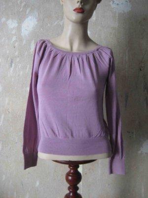 Shirt mit Seide, in blasslila - casual Look