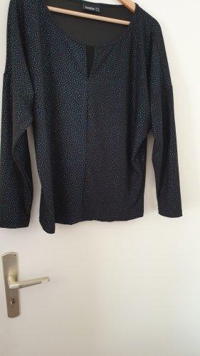 Shirt mit silber-blauem Glitzereffekt