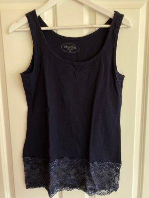 Shirt mit Spitze dunkelblau