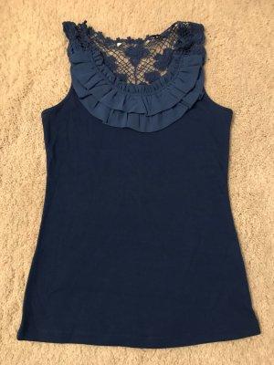 Shirt mit Spitze und Rüschen