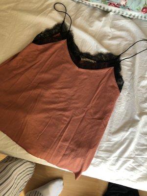 Shirt mit spitze und samt