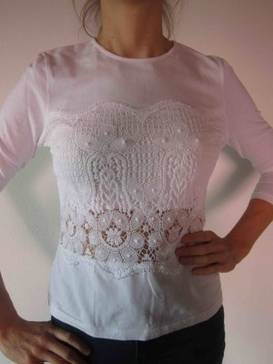 Basset T-shirt blanc coton