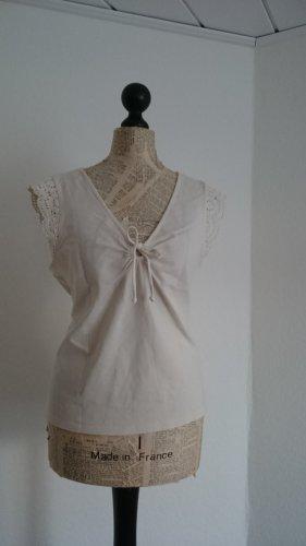 Studio Camisa con cuello V blanco puro Algodón