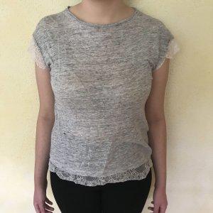 Shirt mit Spitzen-Ärmeln