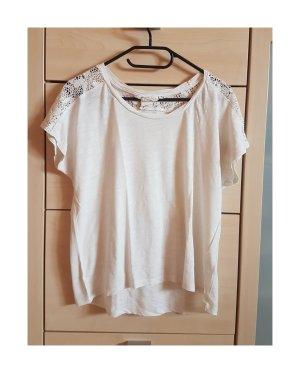 Shirt mit Spitzen-Details Größe M