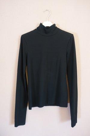 Acne Camisa de cuello de tortuga negro tejido mezclado