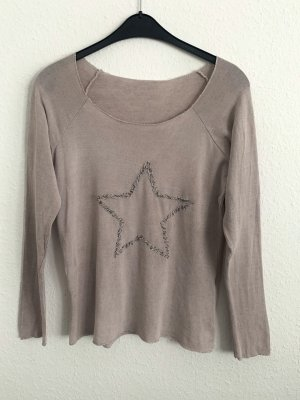 Shirt mit Sternmotiv in Altrosa
