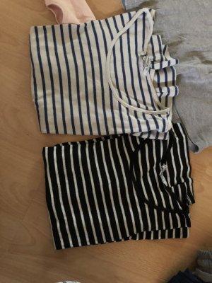 Shirt mit Streifen, Doppelpack