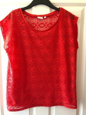Laura Torelli Camisa de malla rojo