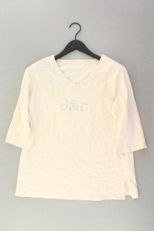 Shirt mit V-Ausschnitt Größe 44 3/4 Ärmel creme