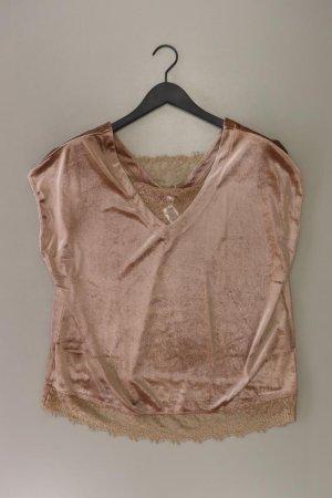 Shirt mit V-Ausschnitt Größe 44 Kurzarm braun aus Polyester