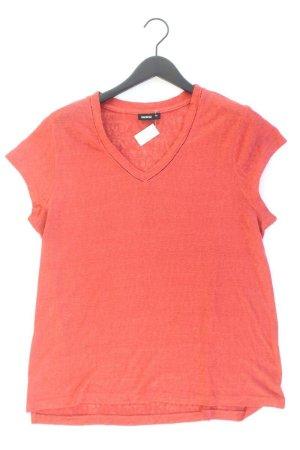 Shirt mit V-Ausschnitt Größe 44 Kurzarm rot