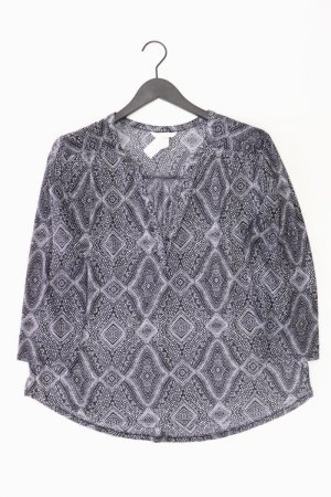 Shirt mit V-Ausschnitt Größe XL Langarm schwarz aus Polyester
