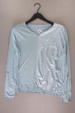 Shirt mit V-Ausschnitt Größe XL Langarm türkis