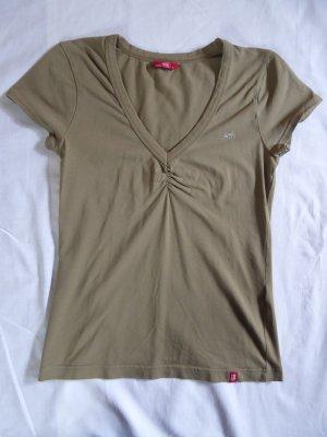 edc by Esprit Koszulka z dekoltem w kształcie litery V ochra